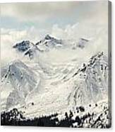 Panoramic View Of Snow-covered St Canvas Print