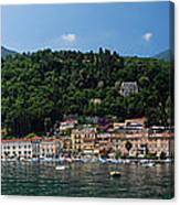 Panoramic View Of Toscolano-maderno Canvas Print