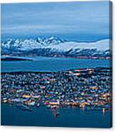 Panoramic View Of Tromso In Norway  Canvas Print