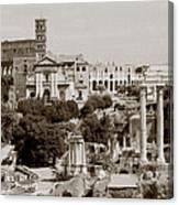 Panoramic View Via Sacra Rome Canvas Print