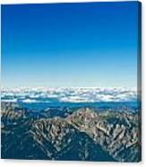 Panoramic View Zugspitze German Austrian Boarder Canvas Print