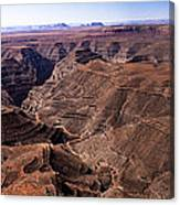 Panormaic View Of Canyonland Canvas Print
