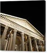 Pantheon At Night. Rome Canvas Print