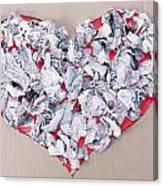 Paper Dump Heart Concept Canvas Print