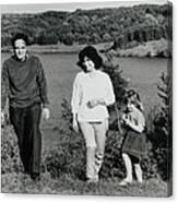 Pappa Hans Mama Chris Colette 1960 Dollerup Hills Denmark Canvas Print