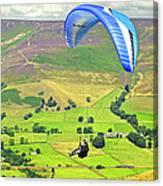Paragliding Off Mam Tor 01 Canvas Print