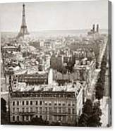 Paris: Aerial View, 1900 Canvas Print
