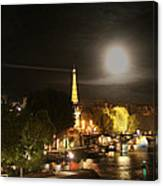 Paris At Night Canvas Print