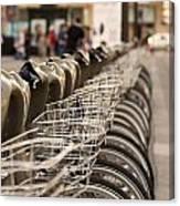 Paris Bikes Canvas Print