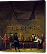 Paris: Billiards, 1725 Canvas Print