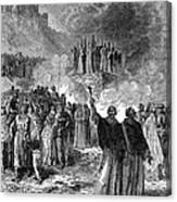 Paris: Burning Of Heretics Canvas Print
