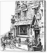 Paris: Cafe, 1889 Canvas Print