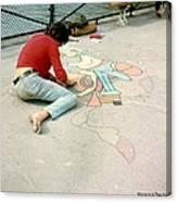 Paris Chalk Art 1964 Canvas Print