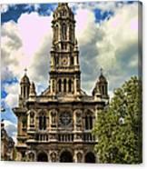 Paris Church Canvas Print
