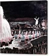 Paris: Fountains, 1889 Canvas Print