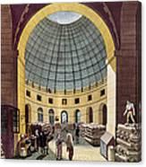 Paris: Halle Au Ble, C1785 Canvas Print