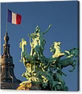 Paris Horse Statue Canvas Print