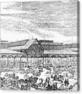 Paris: Les Halles, 1858 Canvas Print