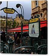 Paris Metro 1 Canvas Print