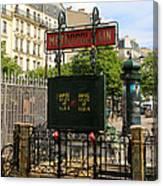 Paris Metro 3 Canvas Print