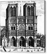Paris: Notre Dame, 1600s Canvas Print