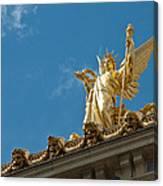 Paris Opera House V   Exterior Facade Canvas Print