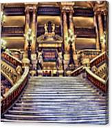 Paris Opera House Vii  Grand Stairway Canvas Print