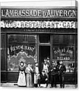 Paris: Restaurant, C1900 Canvas Print