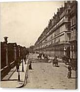 Paris: Rue De Rivoli, C1900 Canvas Print