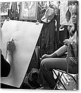 Paris Street Model 1960s Canvas Print