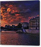 Paris Sundown Canvas Print