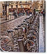 Paris Wheels For Rent Canvas Print