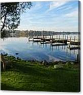 Park And Dock Canvas Print