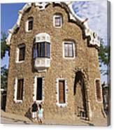 Park Guell Barcelona Antoni Gaudi Canvas Print