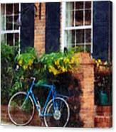 Parked Bicycle Canvas Print