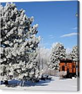 Parked Caboose Canvas Print