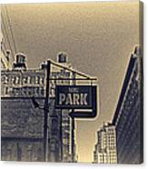 Parking In Sepia Canvas Print