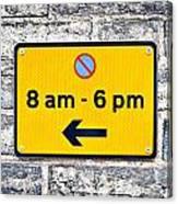 Parking Sign Canvas Print