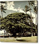 Parkside Postcard Canvas Print