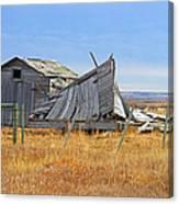 Partial Fallen Barn  Canvas Print