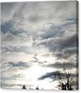 Parting Clouds Canvas Print