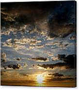 Partly Cloudy Skies At Sunset Canvas Print