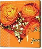 Party Invitation - Orange Roses Canvas Print