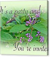 Party Invitation - General - American Beautyberry Shrub Canvas Print