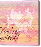 Party Invitation - General - Wild Azalea Blossoms Canvas Print