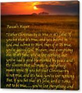 Pascal's Wager Canvas Print