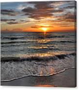 Pass-a-grille Beach Sunset Canvas Print