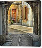 Passageway And Arch In Provence Canvas Print