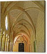 Passageway In A Monastery  Canvas Print