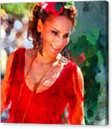 Passionate Gypsy Blood. Flamenco Dance Canvas Print